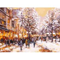 Зимний вечер на бульваре