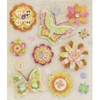 Набор 3D стикеров Волшебные цветы